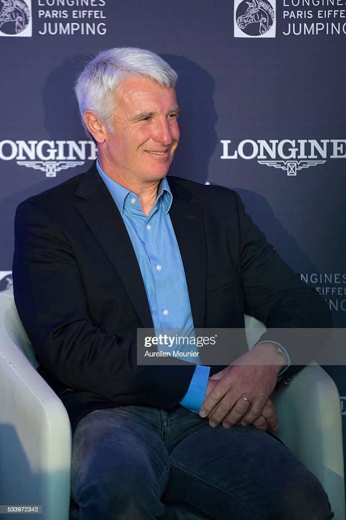 Roger-Yves Bost attends the 3rd Longines Paris Eiffel Jumping press conference on May 24, 2016 in Paris, France.