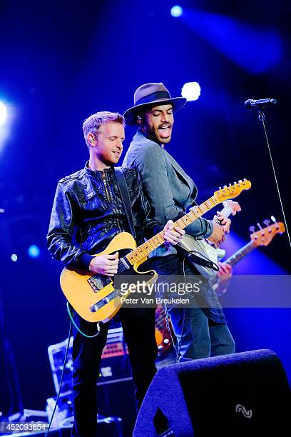 Rogier Wagenaar and Alain Clark perform on stage at Ahoy at North Sea Jazz Festival on July 12 2014 in Rotterdam Netherlands