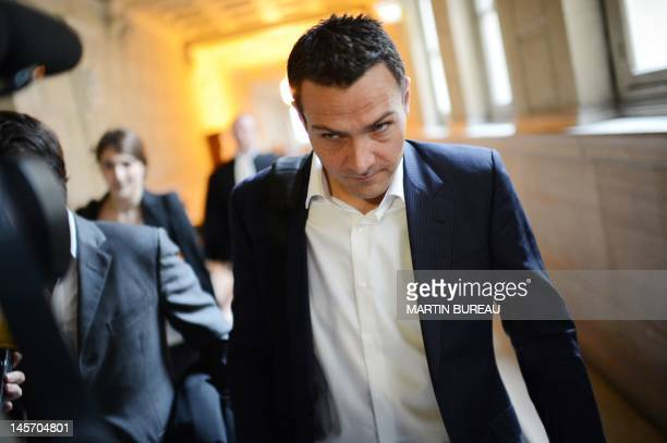 Rogue trader Jerome Kerviel arrives at the court in Paris on June 4 before an appeal hearing against a 2010 conviction for wild gambles that lost one...