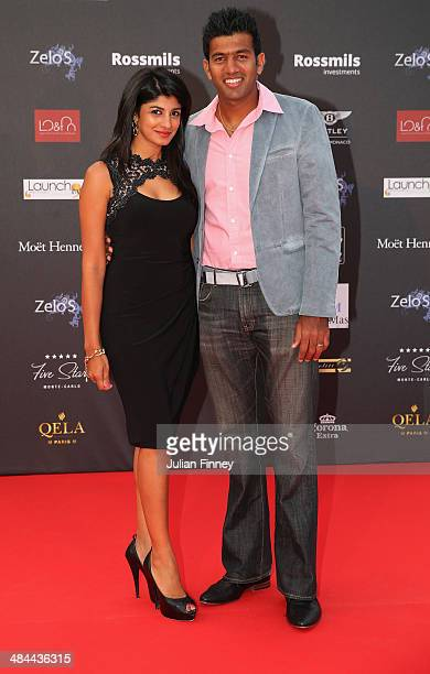 Rohan Bopanna of India and partner during the ATP Monte Carlo Rolex Masters Launch Party at the Grimaldi Forum on April 12 2014 in Monaco Monaco