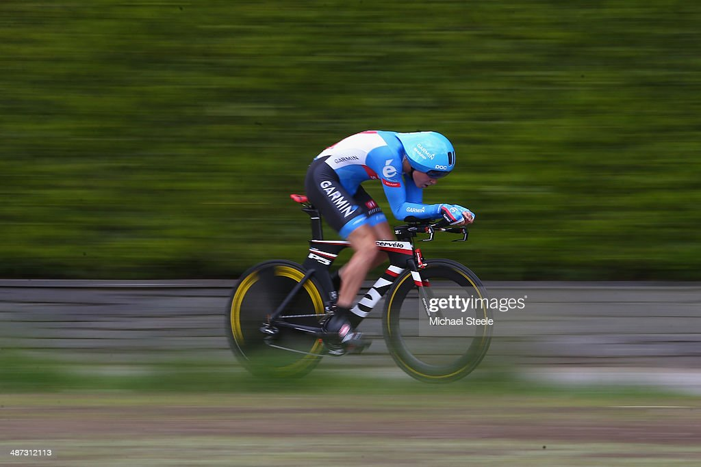 <a gi-track='captionPersonalityLinkClicked' href=/galleries/search?phrase=Rohan+Dennis&family=editorial&specificpeople=4872676 ng-click='$event.stopPropagation()'>Rohan Dennis</a> of Australia and Team Garmin-Sharp on his way to second place during the 5.57km Prologue stage of the Tour de Romandie on April 29, 2014 in Ascona, Switzerland.