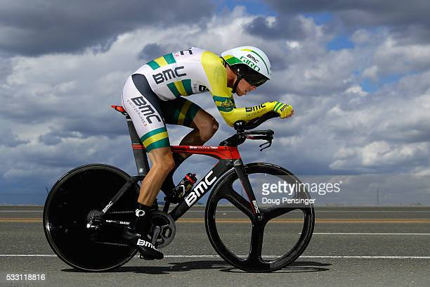 Rohan Dennis of Australia riding for BMC Racing races to victory in the individual time trial during stage six of the 2016 Amgen Tour of California...