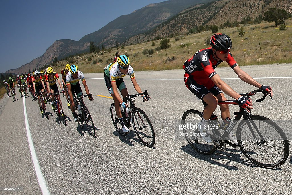 Rohan Dennis of Australia riding for BMC Racing rides in the peloton during stage four of the USA Pro Challenge from Aspen to Breckenridge on August...