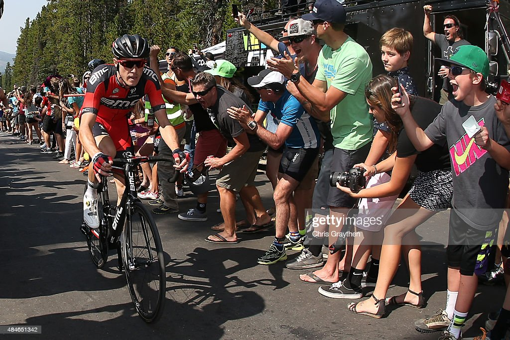 Rohan Dennis of Australia riding for BMC Racing rides up the Moonstone pass during stage four of the USA Pro Challenge from Aspen to Breckenridge on...
