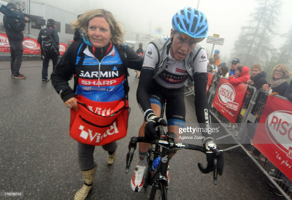 <a gi-track='captionPersonalityLinkClicked' href=/galleries/search?phrase=Rohan+Dennis&family=editorial&specificpeople=4872676 ng-click='$event.stopPropagation()'>Rohan Dennis</a> of Team Garmin-Sharp during Stage Eight of the Criterium du Dauphine, Sisteron to Risoul, France on Sunday 09 June 2013.