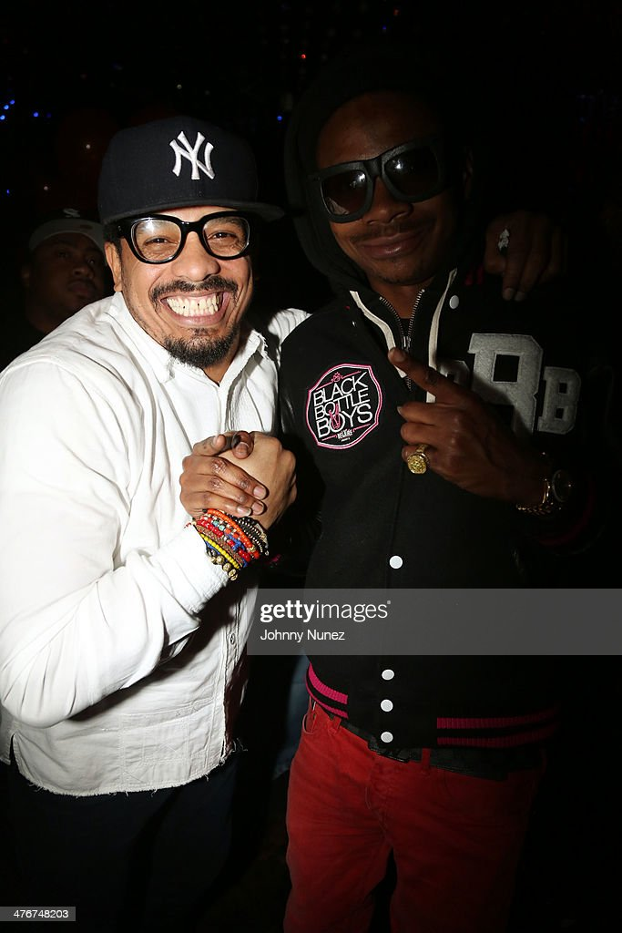 <a gi-track='captionPersonalityLinkClicked' href=/galleries/search?phrase=Rohan+Marley&family=editorial&specificpeople=1138145 ng-click='$event.stopPropagation()'>Rohan Marley</a> and DJ Sam Sneak attend the 'Mastermind' Album Release Party at Greenhouse on March 4, 2014 in New York City.