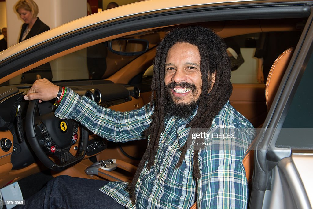 <a gi-track='captionPersonalityLinkClicked' href=/galleries/search?phrase=Rohan+Marley&family=editorial&specificpeople=1138145 ng-click='$event.stopPropagation()'>Rohan Marley</a> attends Fabrizio Sotti's 'Right Now' Album Listening Party at the Ferrari Corporate Showroom Of New York on May 2, 2013 in New York City.