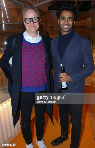 Rohan Silva and HansUlrich Obrist attend the launch of Second Home Holland Park on November 16 2017 in London England
