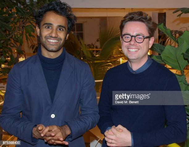 Rohan Silva and Sam Aldenton attend the launch of Second Home Holland Park on November 16 2017 in London England
