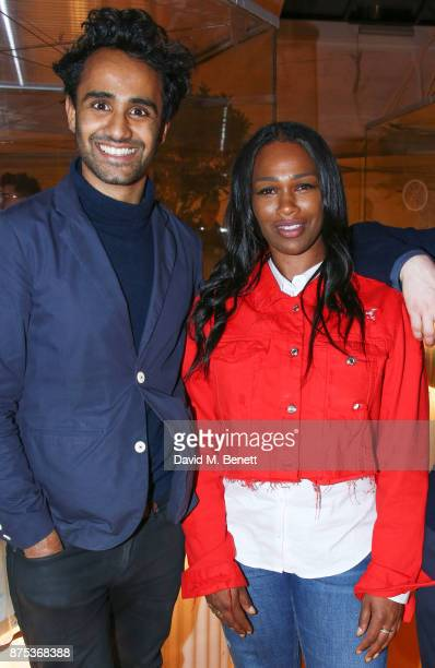 Rohan Silva and Sharmadean Reid attend the launch of Second Home Holland Park on November 16 2017 in London England