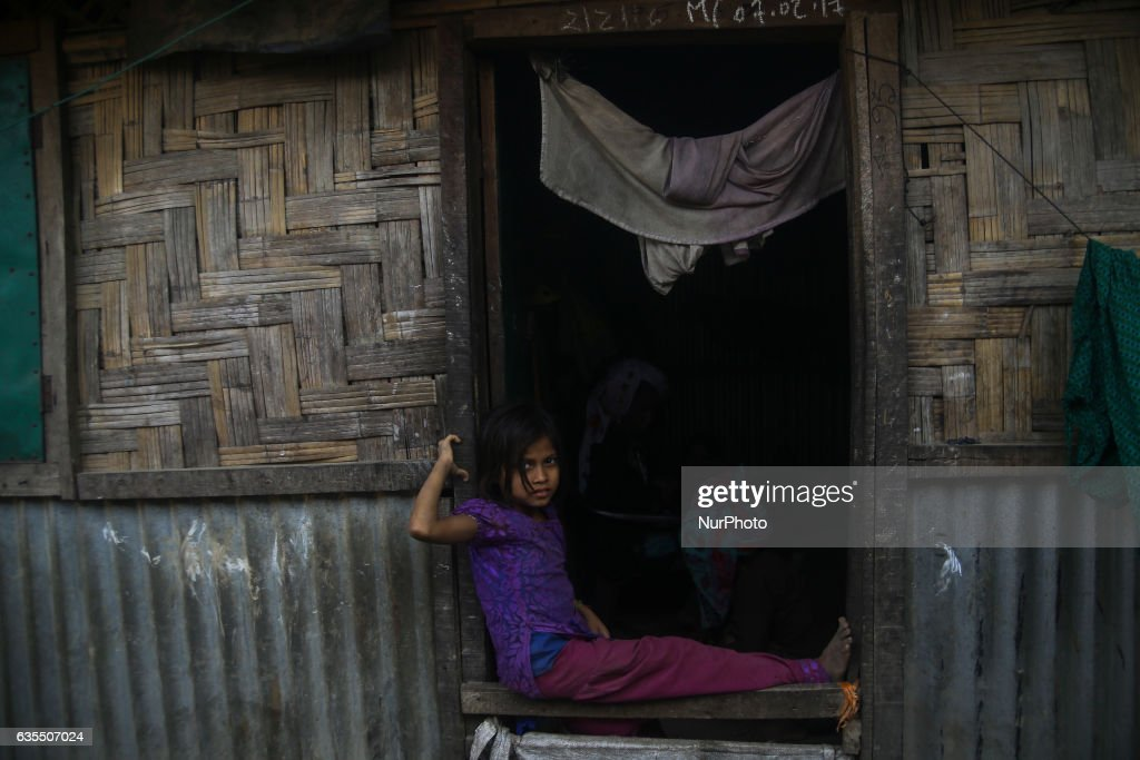 A Rohingya child is seen smile inside the makeshift Leda Rohingya refugee camp on February 15, 2017 in Bangladesh. Thousands of Rohingya living at makeshift camp after conflict in Rakhine state started October last year flee to Bangladesh. More than 31 Non-goverment organisations (NGO) include Mapim and Kelab Putra 1 Malaysia from Malaysia, Indonesia, China, France, Germany, and United States joint forces bringing almost 2300 tonne of humanitarian goods include medicine, food, cooking oil and cloth were sending to ethnic minority Rohingya in Yangon and Teknaf.