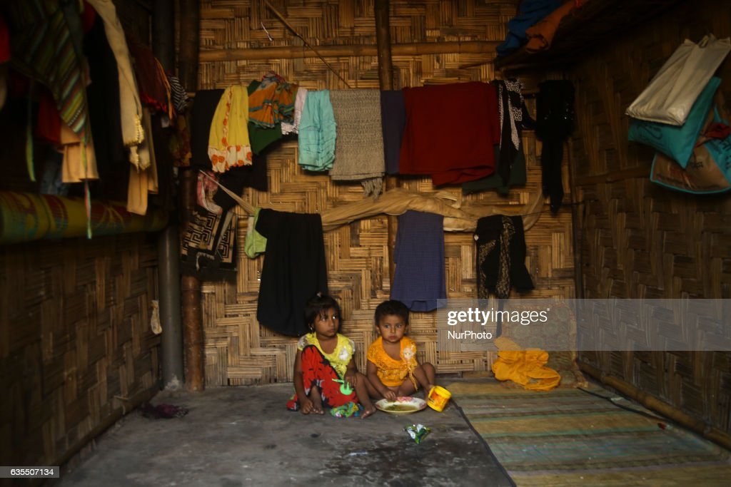 A Rohingya child sit inside the makeshift Leda Rohingya refugee camp on February 15, 2017 in Bangladesh. Thousands of Rohingya living at makeshift camp after conflict in Rakhine state started October last year flee to Bangladesh. More than 31 Non-goverment organisations (NGO) include Mapim and Kelab Putra 1 Malaysia from Malaysia, Indonesia, China, France, Germany, and United States joint forces bringing almost 2300 tonne of humanitarian goods include medicine, food, cooking oil and cloth were sending to ethnic minority Rohingya in Yangon and Teknaf.