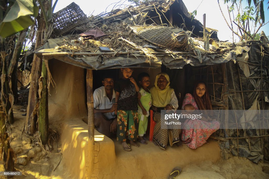 A Rohingya family are seen inside their makeshift Refugee Camp in Kutupalong , Bangladesh on February 15, 2017. Almost 60,000 thousand refugees from Maungdaw, Myanmar living in makeshift camp after conflict in Rakhine state started October last year flee to Kutupalong in Bangladesh. More than 31 Non-goverment organisations (NGO) include Mapim and Kelab Putra 1 Malaysia from Malaysia, Indonesia, China, France, Germany, and United States joint forces bringing almost 2300 tonne of humanitarian goods include medicine, food, cooking oil and cloth were sending to ethnic minority Rohingya in Yangon and Teknaf.