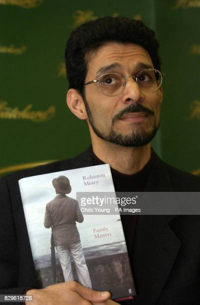 Rohinton Mistry author of the novel Family Matters which has been shortlisted for the Man Booker Prize 2002 poses at Hatchards in central London Six...