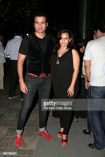 Rohit Roy and Mansi Joshi Roy at Subhash Ghais wedding anniversary party in Mumbai