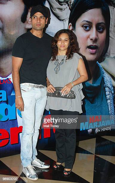 Rohit Roy and Mansi Joshi Roy at the premiere of the film 'It's a Wonderful Afterlife' in Mumbai on May 6 2010