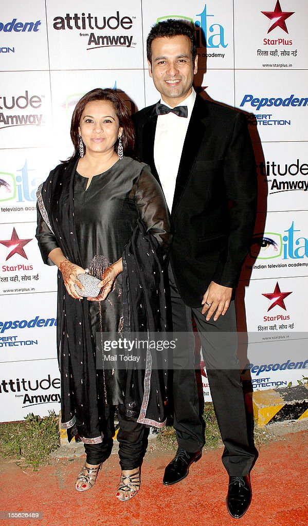 Rohit Roy with wife Manasi Roy during Indian Television Academy Awards 2012 (ITA Awards), held in Mumbai on November 4, 2012.