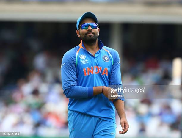 Rohit Shama of India during the ICC Champions Trophy Final match between India and Pakistan at The Oval in London on June 18 2017