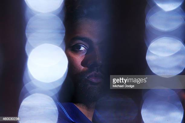 Rohit Sharma looks on during an Indian media session at the InterContinental Hotel on December 6 2014 in Adelaide Australia