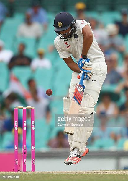 Rohit Sharma of India bats during day five of the Fourth Test match between Australia and India at Sydney Cricket Ground on January 10 2015 in Sydney...