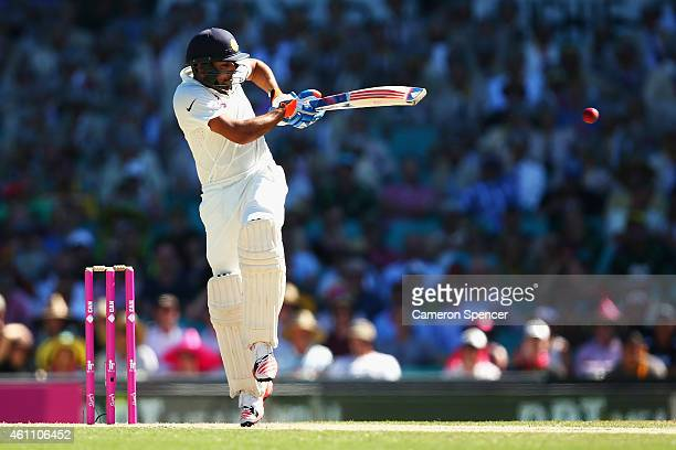 Rohit Sharma of India bats during day two of the Fourth Test match between Australia and India at Sydney Cricket Ground on January 7 2015 in Sydney...