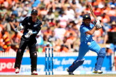 Rohit Sharma of India bats during game four of the men's one day international series at Seddon Park on January 28 2014 in Hamilton New Zealand