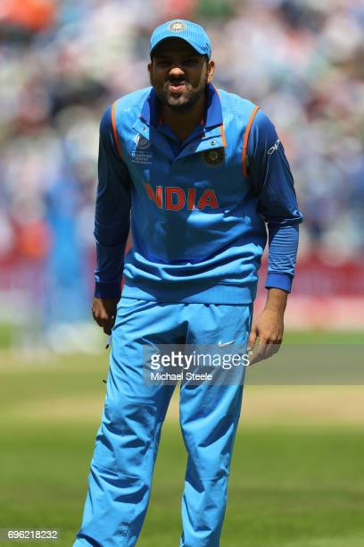 Rohit Sharma of India during the ICC Champions Trophy SemiFinal match between Bangladesh and India at Edgbaston on June 15 2017 in Birmingham England