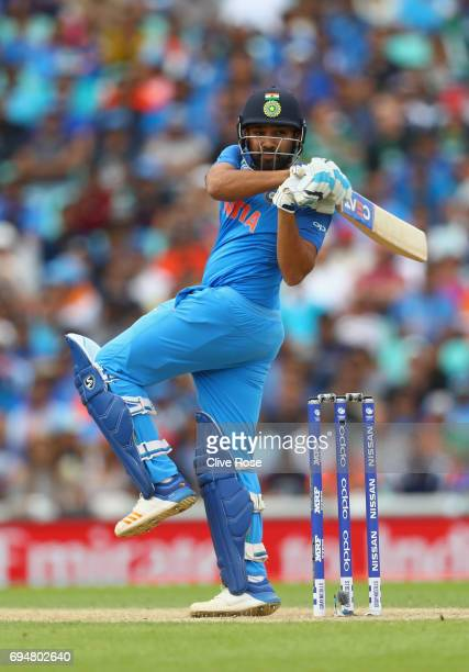 Rohit Sharma of India in action during the ICC Champions trophy cricket match between India and South Africa at The Oval in London on June 11 2017