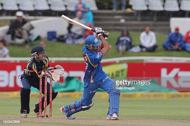 Rohit Sharma of the Mumbai Indians during the Karbonn Smart CLT20 match between Mumbai Indians and Yorkshire at Sahara Park Newlands on October 18...