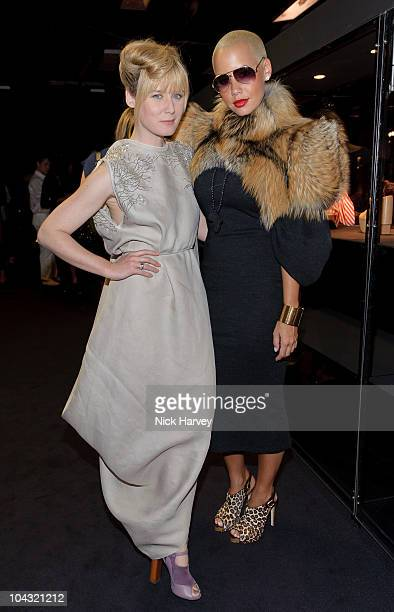 Roisin Murphy and Amber Rose attends Vivienne Westwood Shoes An Exhibition 19732010 at Selfridges on September 20 2010 in London England