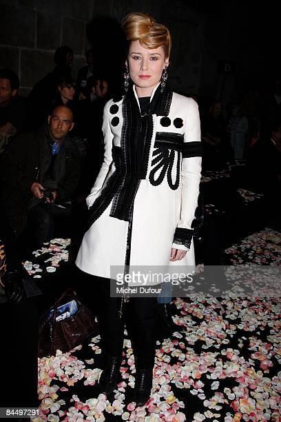 Roisin Murphy attends the Givenchy fashion show during Paris Fashion Week Haute Couture Spring/Summer 2009 on January 27 2009 in Paris France