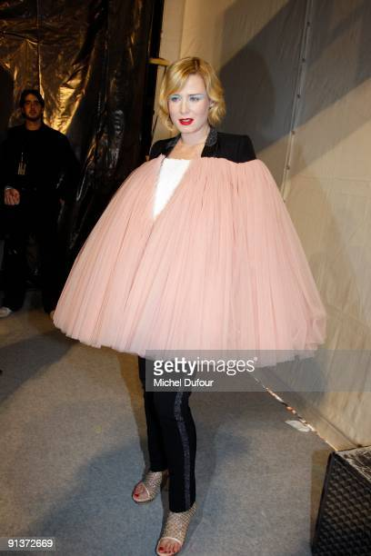 Roisin Murphy attends the Viktor Rolf Pret a Porter show during Paris Womenswear Fashion Week Spring/Summer 2010 at Espace Ephemere Tuileries on...