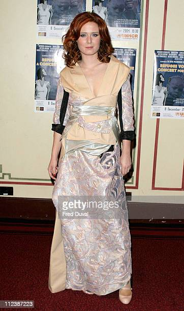 Roisin Murphy during 'Refugees Voices A Concert For Darfur' at The Royal Albert Hall in London Great Britain
