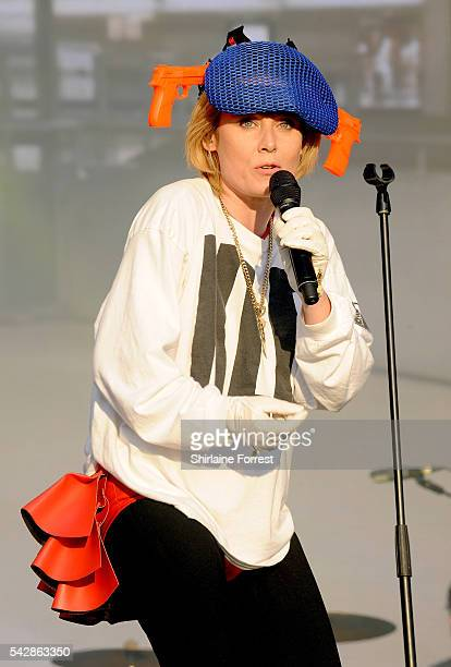 Roisin Murphy performs on West Holts Stage at Glastonbury Festival 2016 at Worthy Farm Pilton on June 24 2016 in Glastonbury England