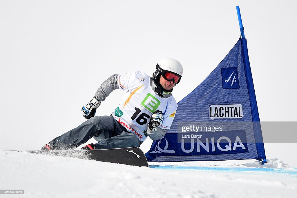 <a gi-track='captionPersonalityLinkClicked' href=/galleries/search?phrase=Rok+Flander&family=editorial&specificpeople=869981 ng-click='$event.stopPropagation()'>Rok Flander</a> of Slovenia competes in the Men's Parallel Giant Slalom Finals during the FIS Freestyle Ski and Snowboard World Championships 2015 on January 23, 2015 in Lachtal, Austria.