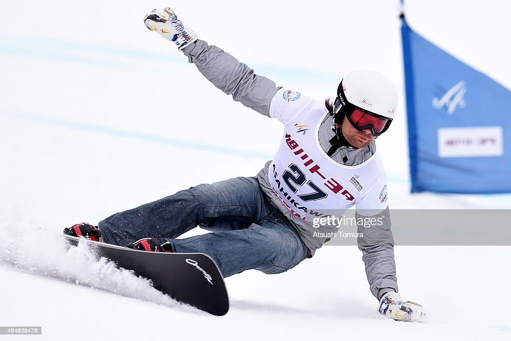 <a gi-track='captionPersonalityLinkClicked' href=/galleries/search?phrase=Rok+Flander&family=editorial&specificpeople=869981 ng-click='$event.stopPropagation()'>Rok Flander</a> of Slovenia competes in the Men's Parallel Slalom on the day two during FIS Snowboard World Cup - Alpine Snowboard on March 1, 2015 in Asahikawa, Japan.