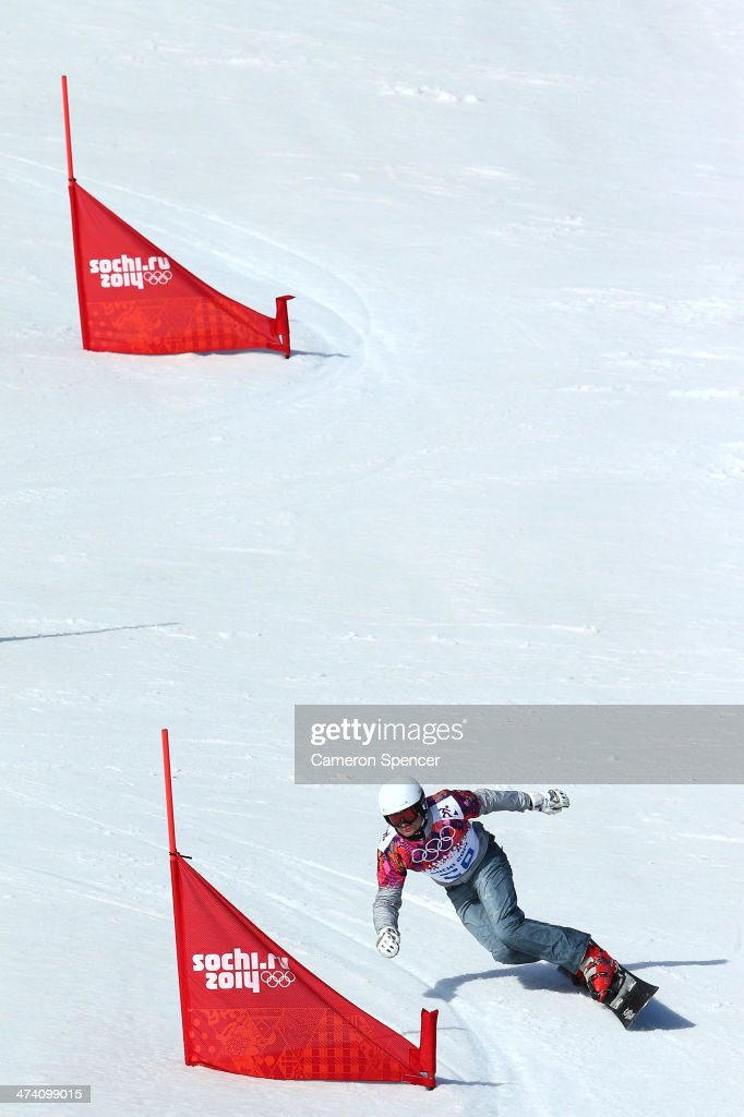 <a gi-track='captionPersonalityLinkClicked' href=/galleries/search?phrase=Rok+Flander&family=editorial&specificpeople=869981 ng-click='$event.stopPropagation()'>Rok Flander</a> of Slovenia competes in the Snowboard Men's Parallel Slalom Qualification on day 15 of the 2014 Winter Olympics at Rosa Khutor Extreme Park on February 22, 2014 in Sochi, Russia.