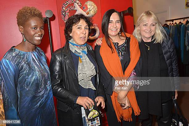 Rokhaya Diallo Isabelle Alonso Nathalie Garcon and Julie Leclerc attend the Nathalie Garcon's 'Carnet de Voyages en Tunisie' at Nathalie Garcon Shop...