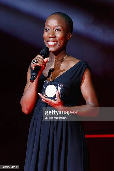 Rokia Traore is pictured after being awarded during 'Les Grands Prix De La SACEM 2014' at L'Olympia on November 24 2014 in Paris France