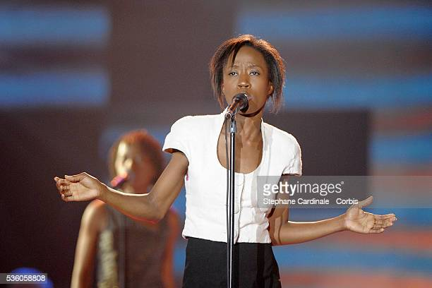 Rokia Traore on stage at the '24th Victoires de la Musique' ceremony held at the Zenith in Paris