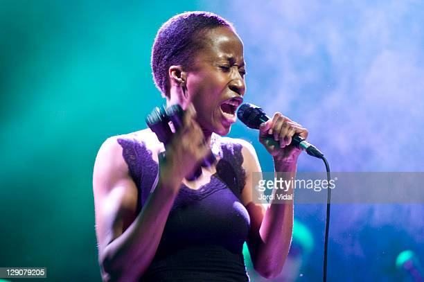 Rokia Traore performs on stage during Blues i Ritmes Festival at Teatre Zorrilla on April 12 2008 in Badalona Spain