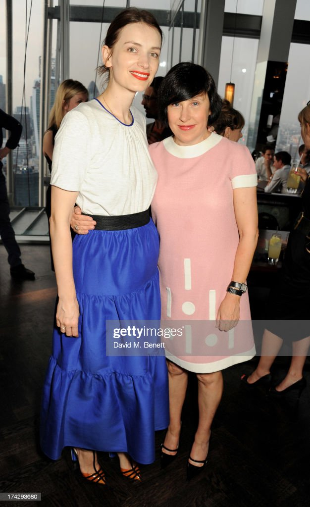 Roksanda Ilincic (L) and Alice Rawsthorn attend the London Design Festival dinner hosted by Ben Evans at Aqua Shard on July 23, 2013 in London, England.