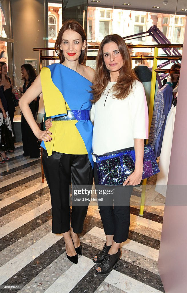 Roksanda Ilincic and Livia Firth attend the opening of Roksanda on Mount Street on June 10 2014 in London England