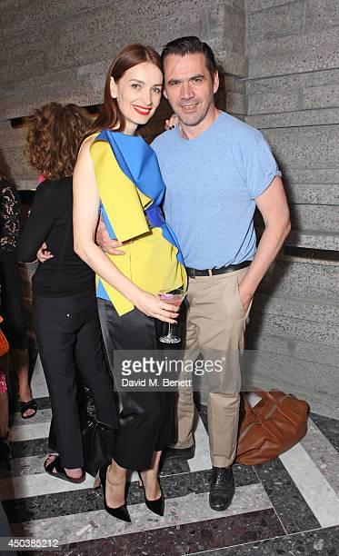 Roksanda Ilincic and Roland Mouret attends the opening of Roksanda on Mount Street on June 10 2014 in London England