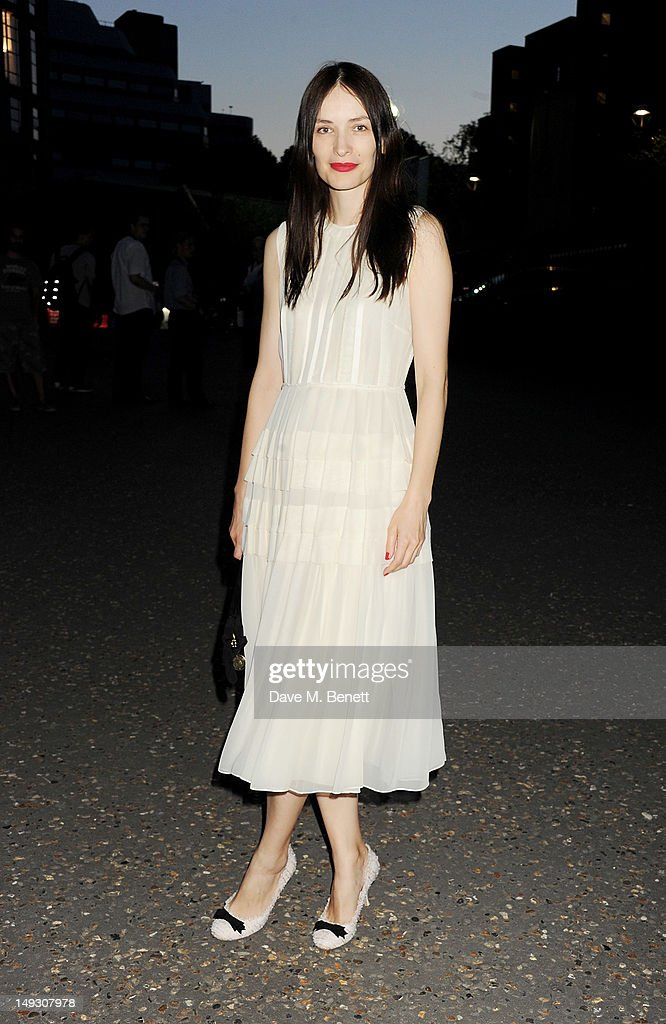 Roksanda Ilincic arrives at the Warner Music Group Pre-Olympics Party in the Southern Tanks Gallery at the Tate Modern on July 26, 2012 in London, England.