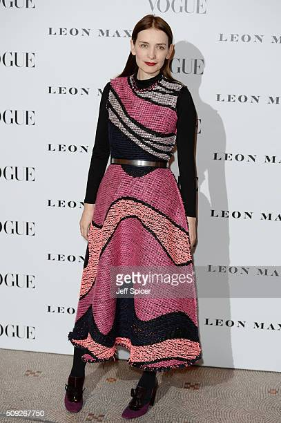 Roksanda Ilincic attends at Vogue 100 A Century Of Style at the National Portrait Gallery on February 9 2016 in London England