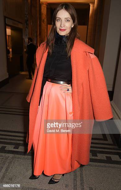 Roksanda Ilincic attends the Alexander McQueen Savage Beauty Fashion Gala at the VA presented by American Express and Kering on March 12 2015 in...