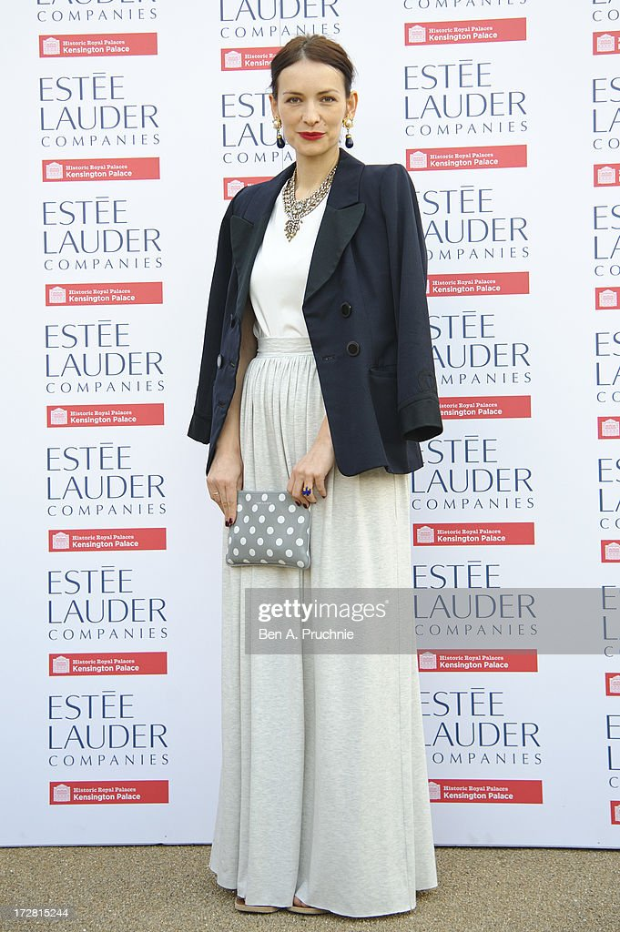 Roksanda Ilincic attends the launch party for the Fashion Rules exhibition, a collection of dresses worn by HRH Queen Elizabeth II, Princess Margaret and Diana, Princess of Wales at Kensington Palace on July 4, 2013 in London, England.
