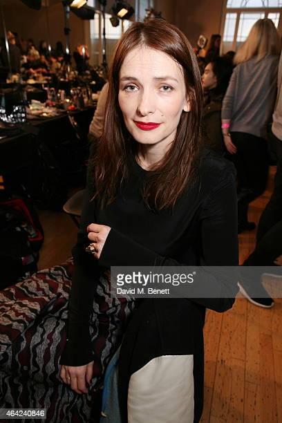 Roksanda Ilincic attends the Roksanda show during London Fashion Week Fall/Winter 2015/16 at Seymour Hall on February 23 2015 in London England