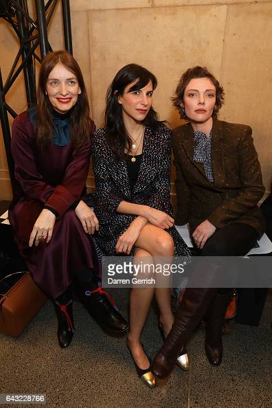 Roksanda Ilincic Caroline Sieber and Camilla Rutherford attend the Christopher Kane show during the London Fashion Week February 2017 collections on...